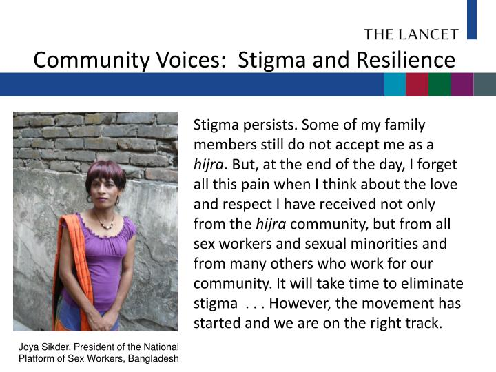 Community Voices:  Stigma and Resilience