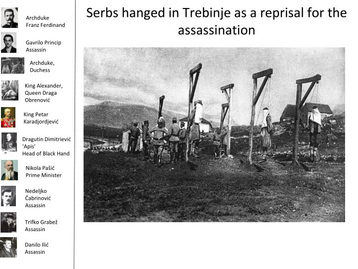 Serbs hanged in