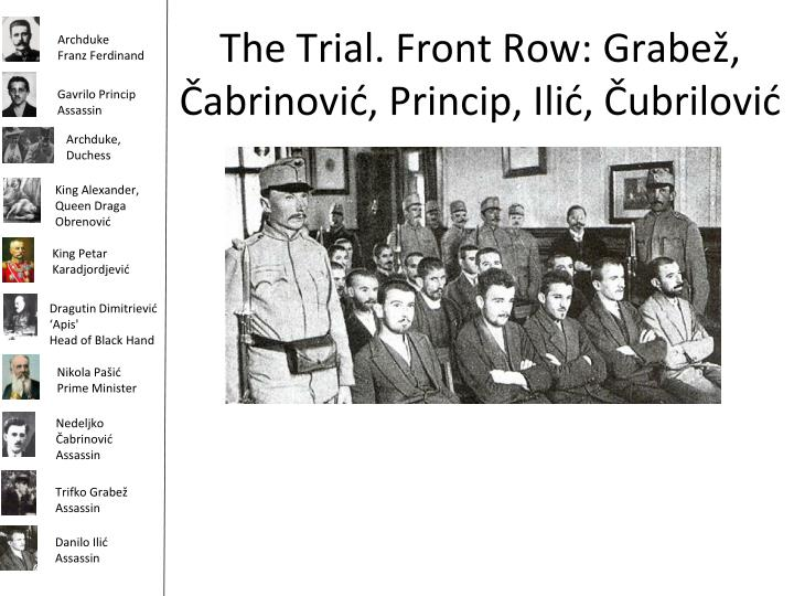 The Trial. Front Row: