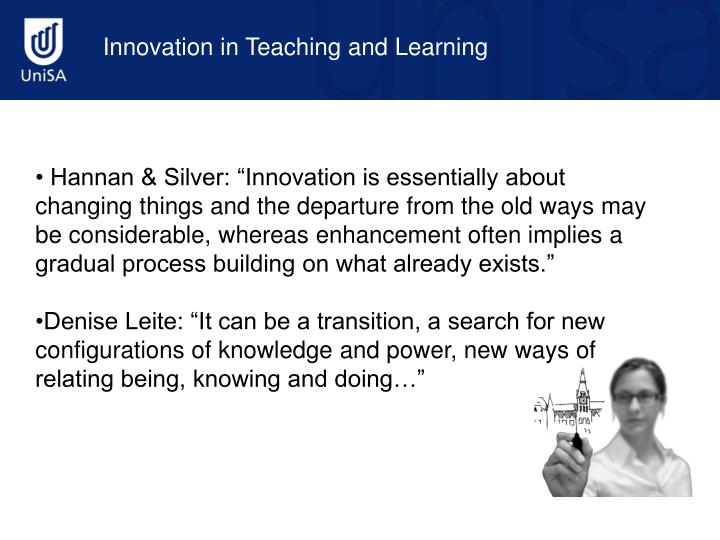 Innovation in Teaching and Learning