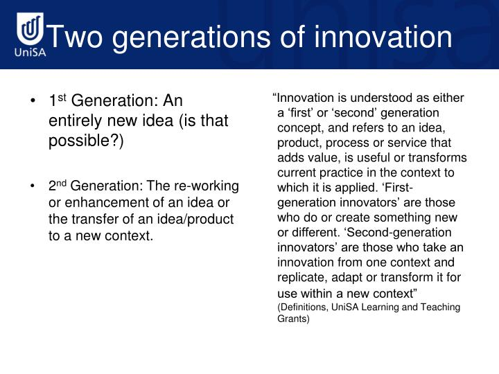 Two generations of innovation