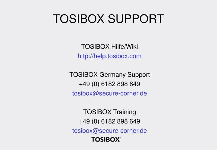 TOSIBOX SUPPORT