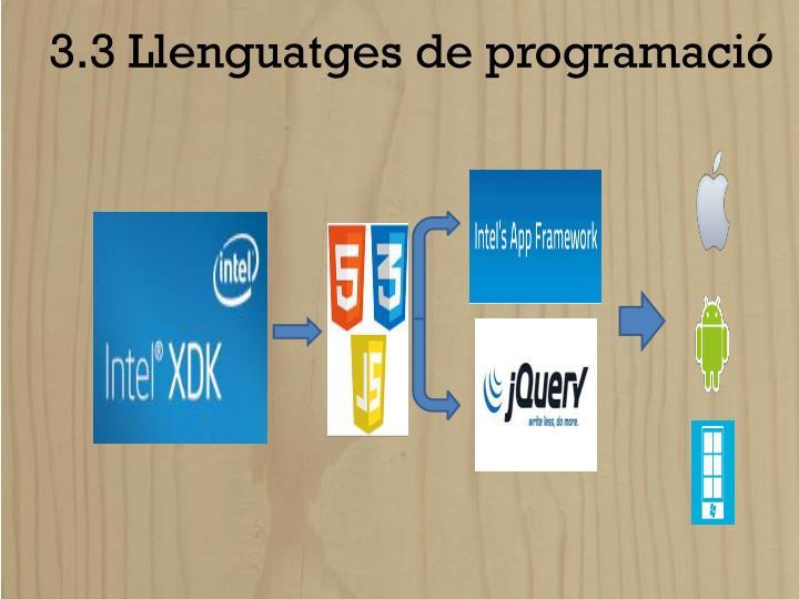 3.3 Llenguatges de programació