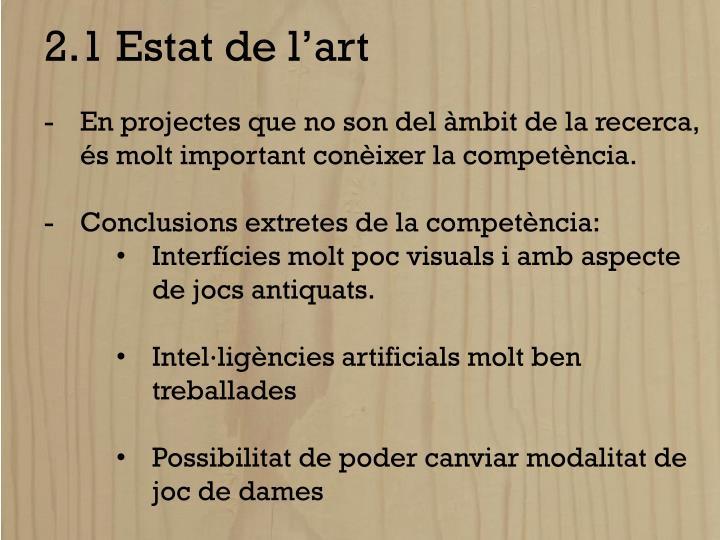 2.1 Estat de l'art