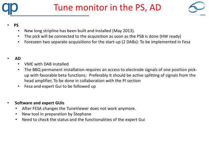 Tune monitor in the