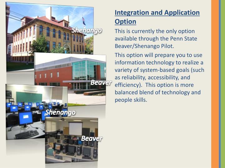 Integration and Application Option