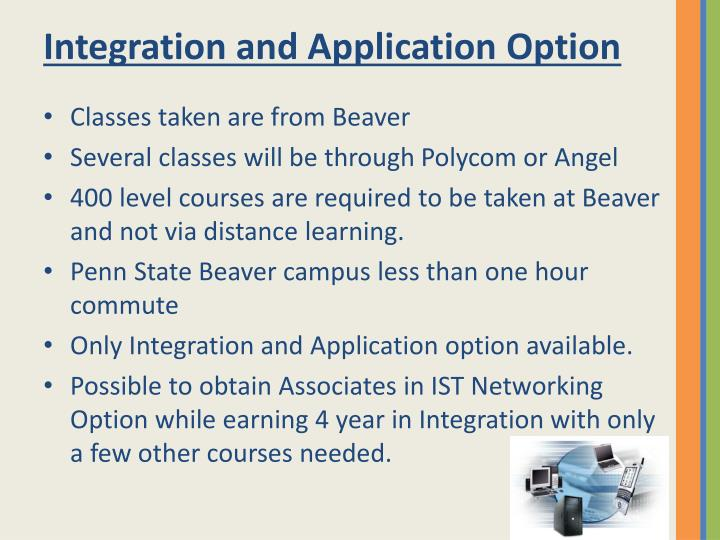 Integration and Application Option