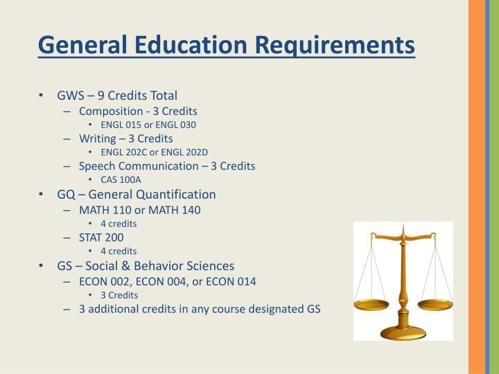 General Education Requirements