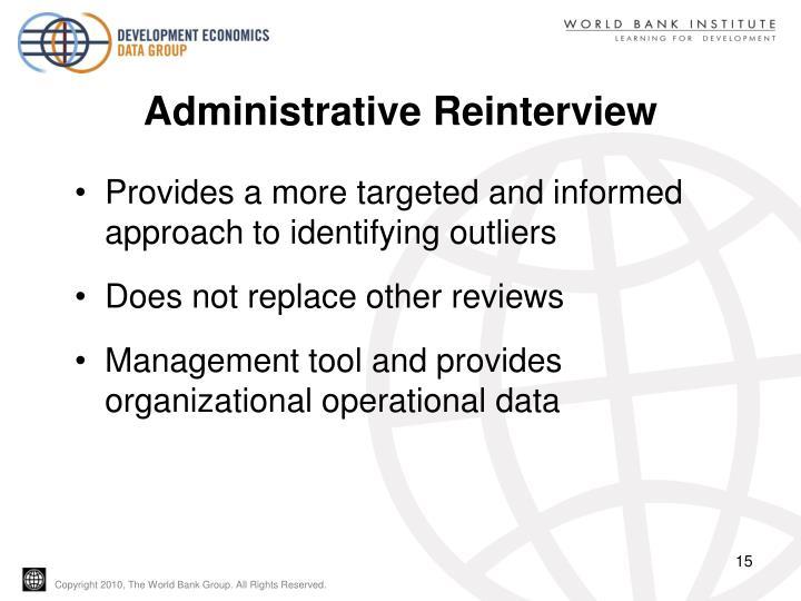 Administrative Reinterview