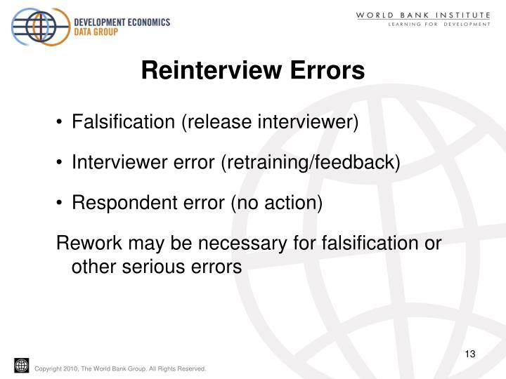 Reinterview Errors