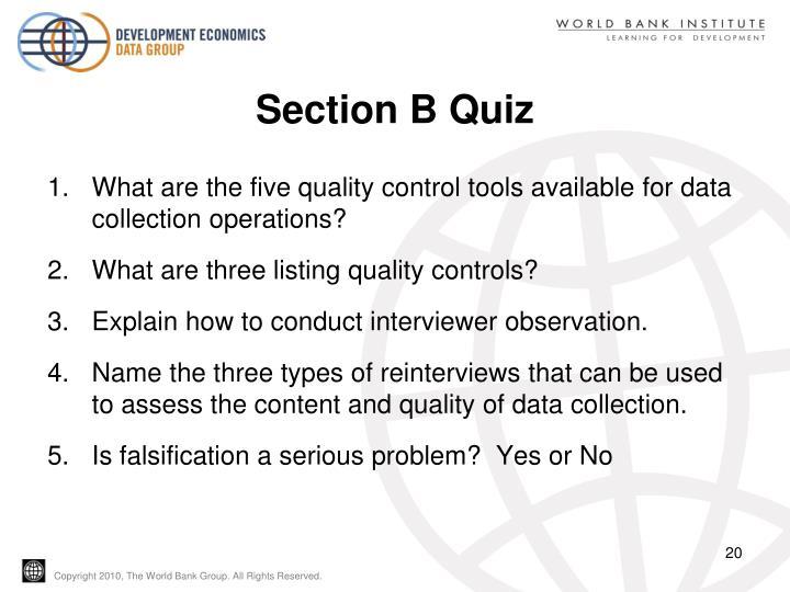 Section B Quiz