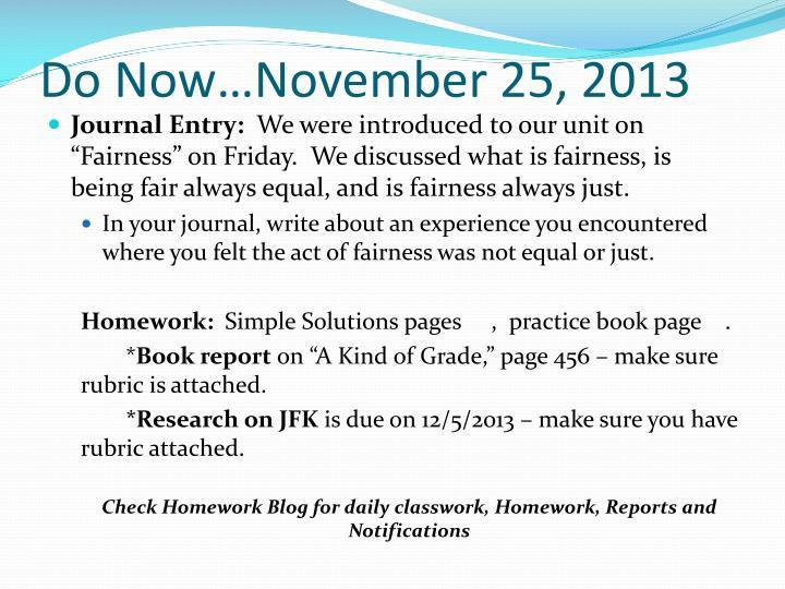 Do Now…November 25, 2013