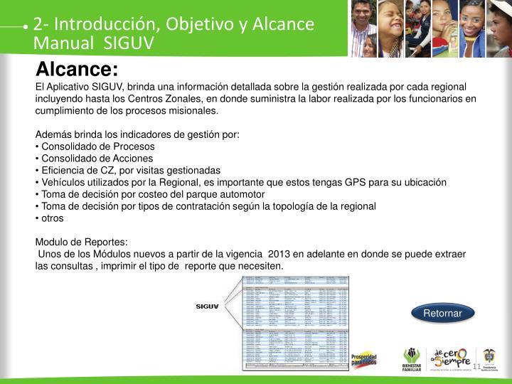 2- Introducción, Objetivo y Alcance