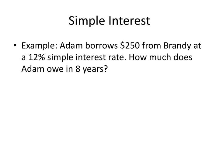 Simple Interest
