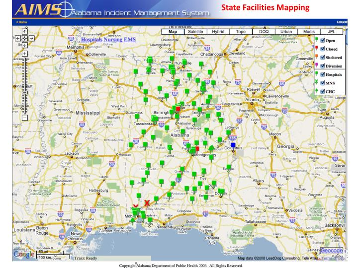 State Facilities Mapping