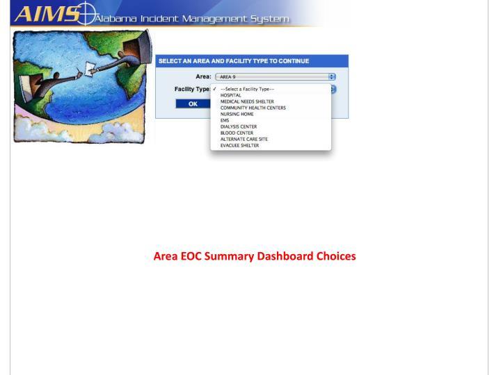 Area EOC Summary Dashboard Choices