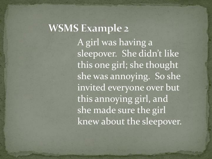 WSMS Example 2