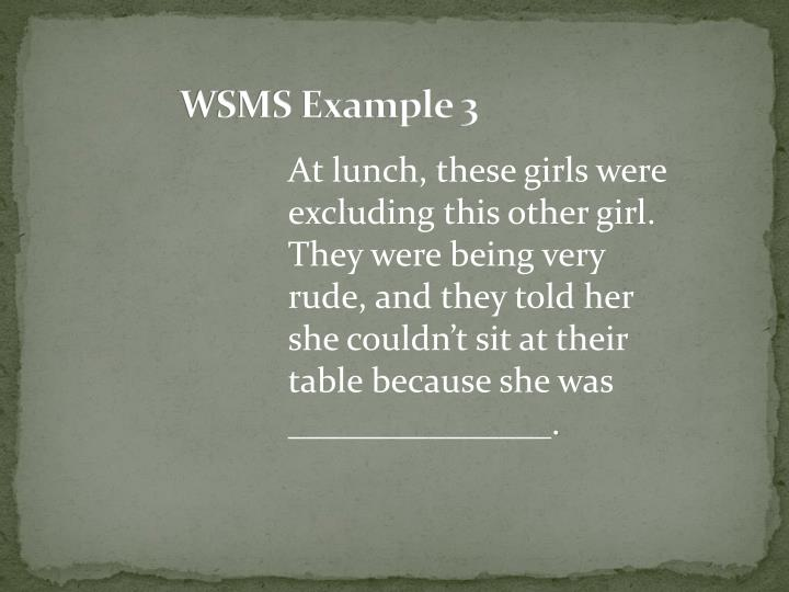 WSMS Example 3