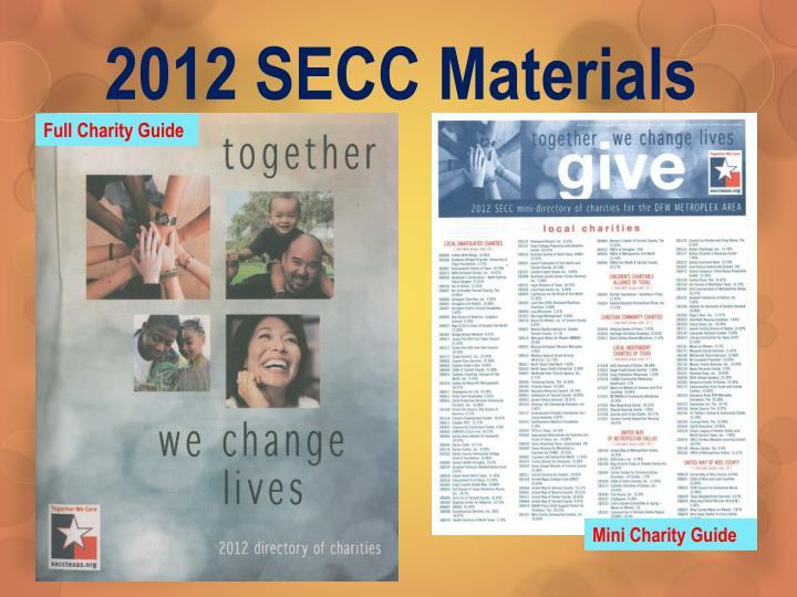 2012 SECC Materials