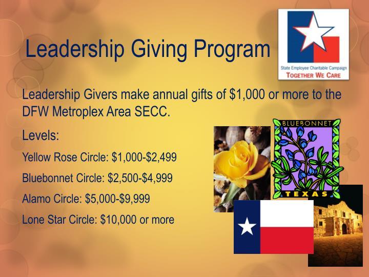 Leadership Giving Program