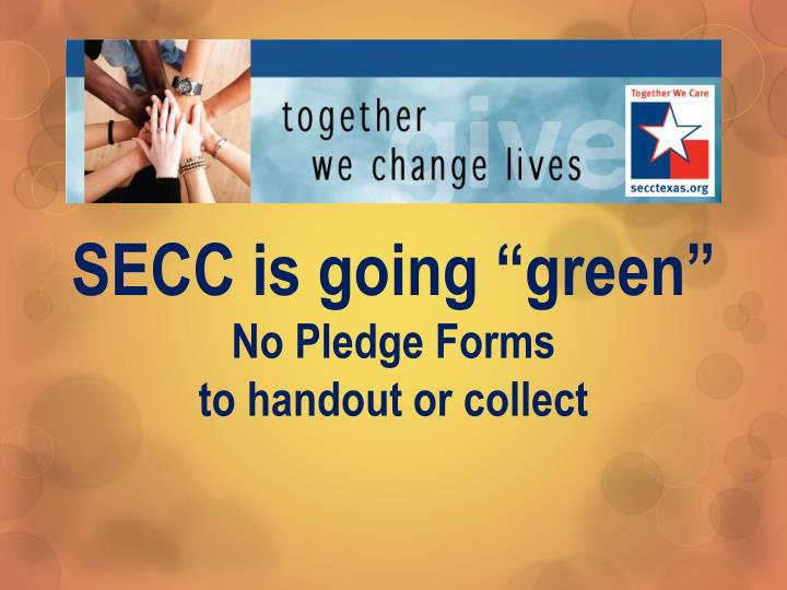 "SECC is going ""green"""