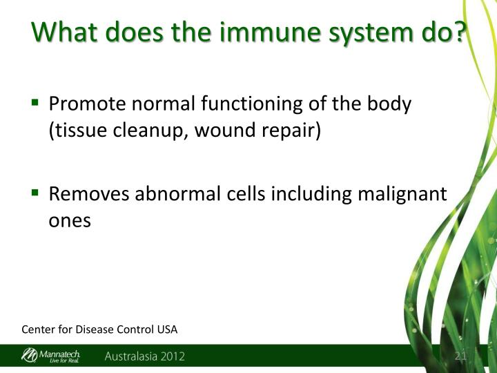 What does the immune system do?