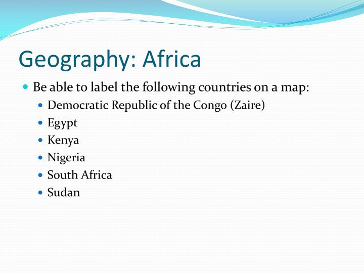 Geography: Africa