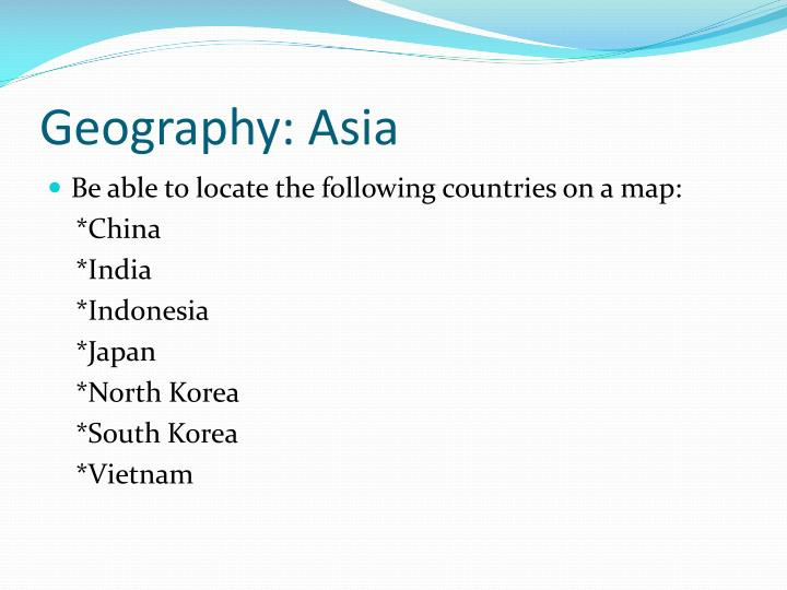 Geography: Asia