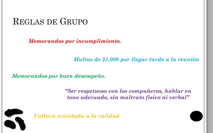 Reglas de Grupo