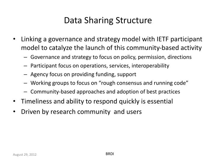 Data Sharing Structure