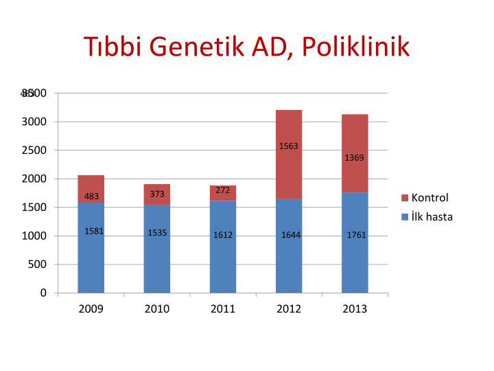 Tıbbi Genetik AD, Poliklinik