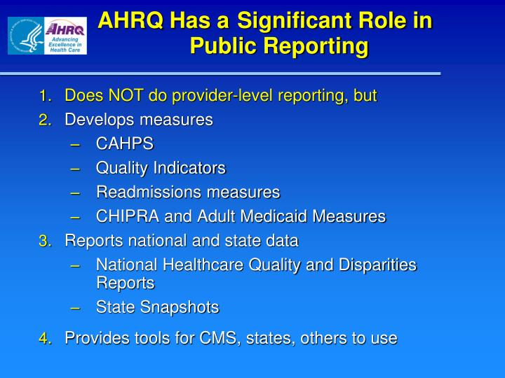 ppt   ahrq and the science of public reporting