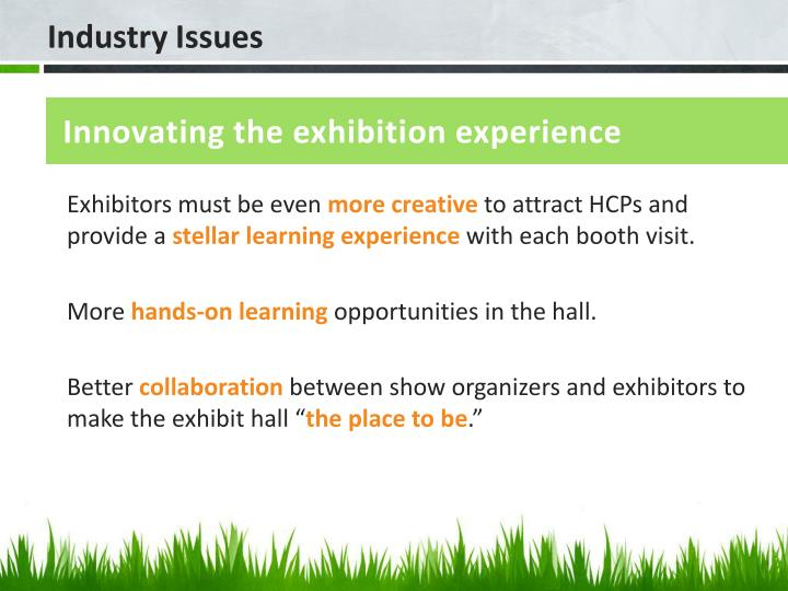 Innovating the exhibition experience