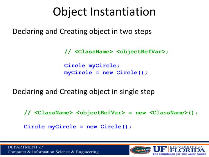 Object Instantiation