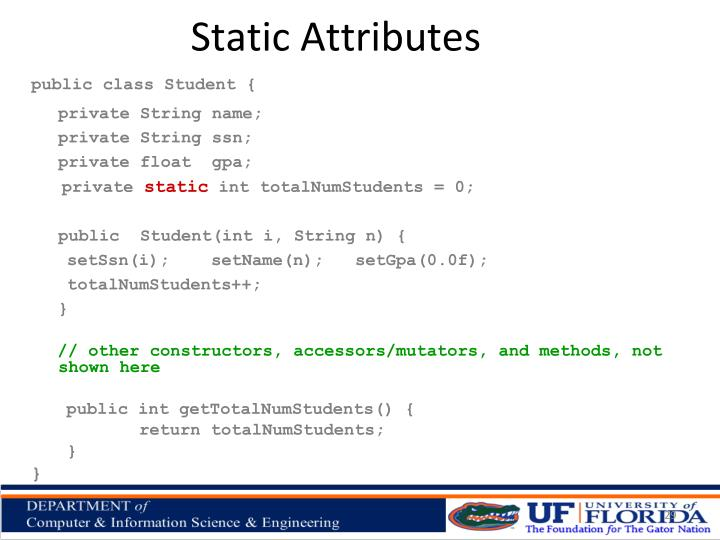 Static Attributes