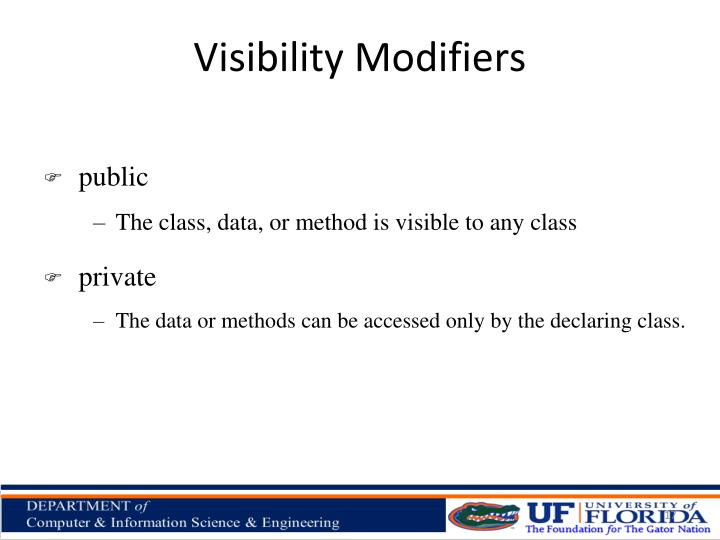 Visibility Modifiers