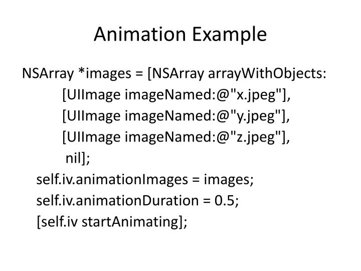 Animation Example
