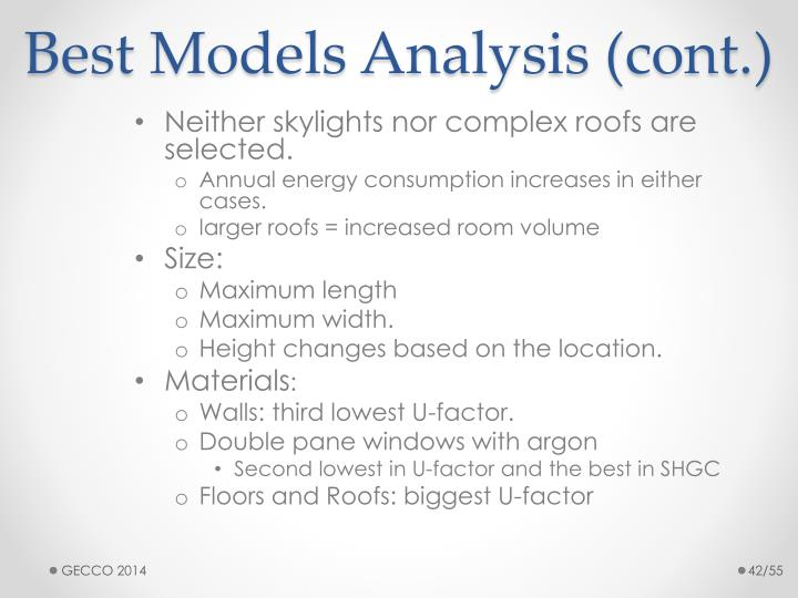 Best Models Analysis (cont.)