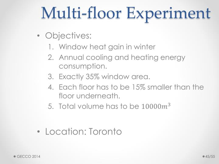 Multi-floor Experiment