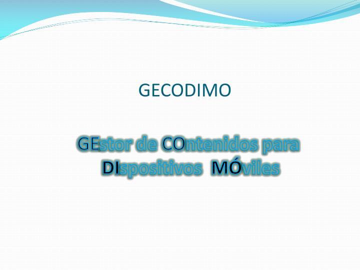 GECODIMO