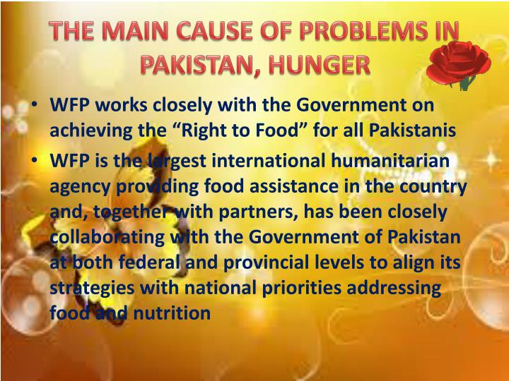 THE MAIN CAUSE OF PROBLEMS IN PAKISTAN, HUNGER