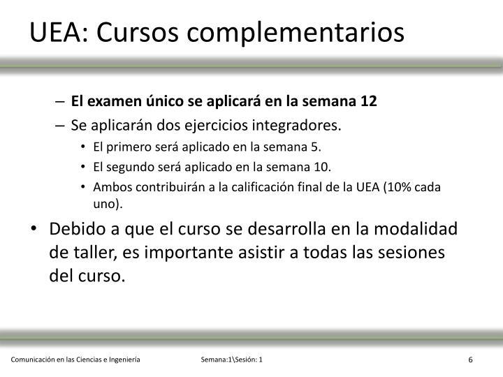 UEA: Cursos complementarios