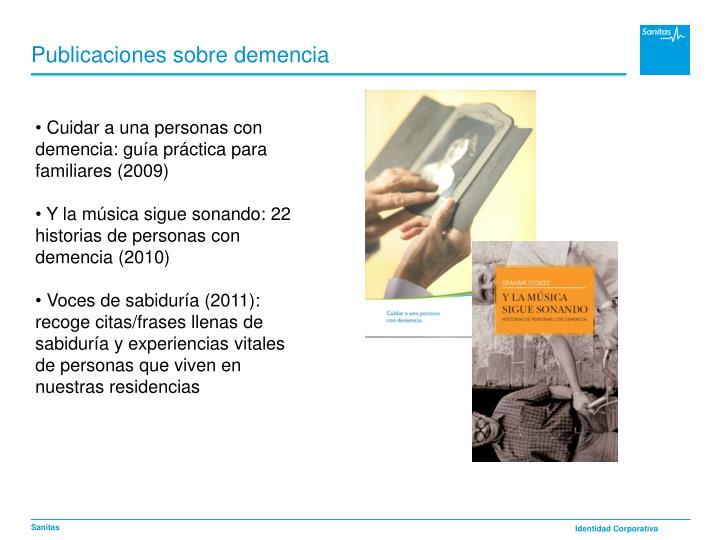 Publicaciones sobre demencia