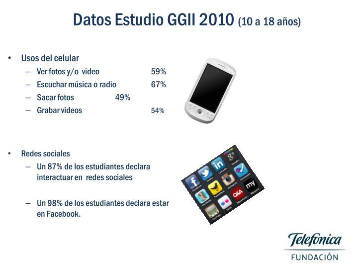 Datos Estudio GGII 2010