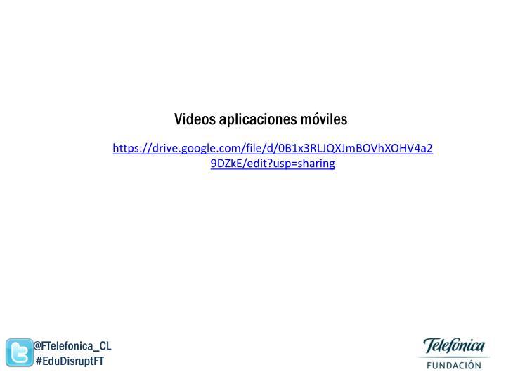 Videos aplicaciones móviles