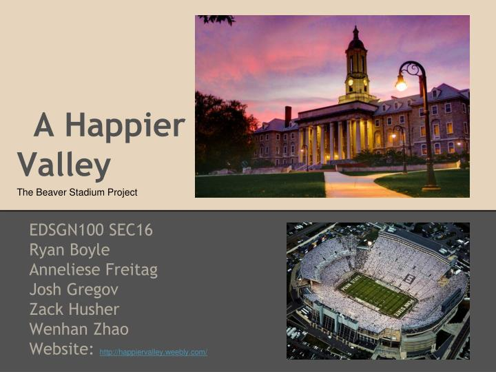 A happier valley