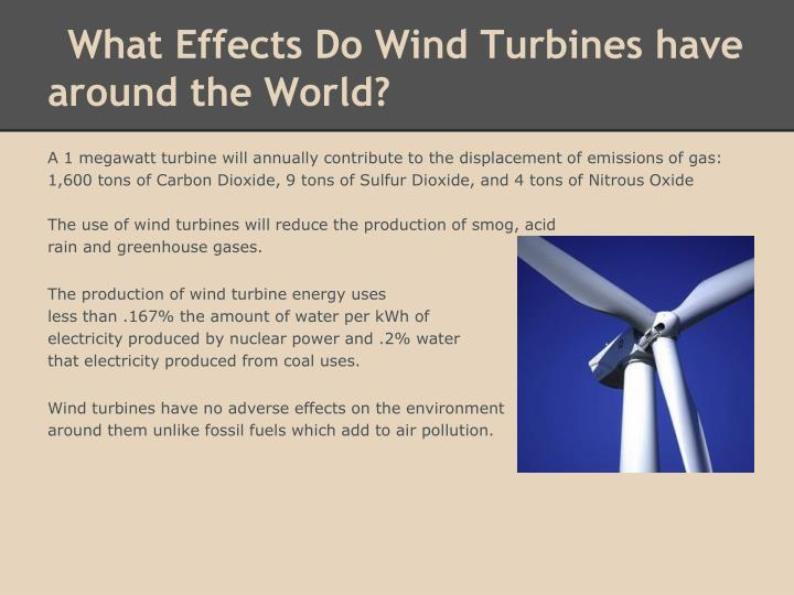 What Effects Do Wind Turbines have around the World?