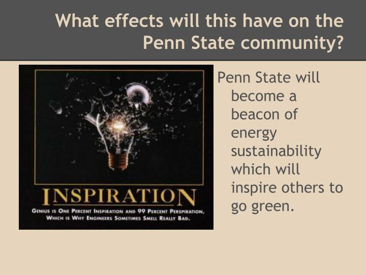 What effects will this have on the Penn State community?