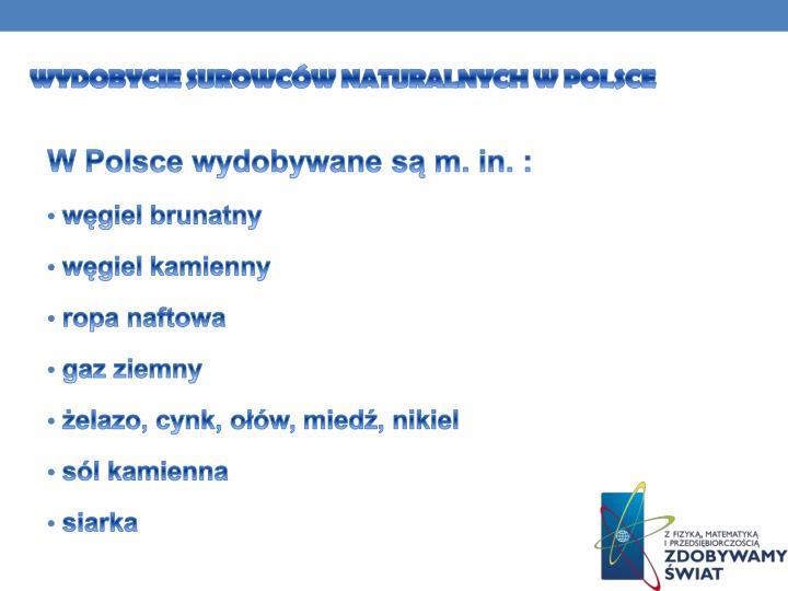 Wydobycie surowców naturalnych w Polsce