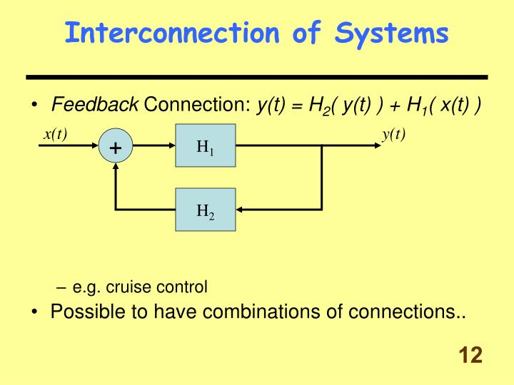 Interconnection of Systems